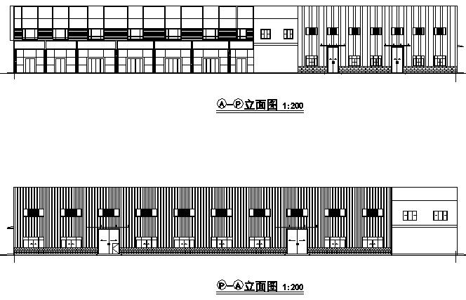 1、3、4号车间门式刚架钢结构施工图(CAD,22张)
