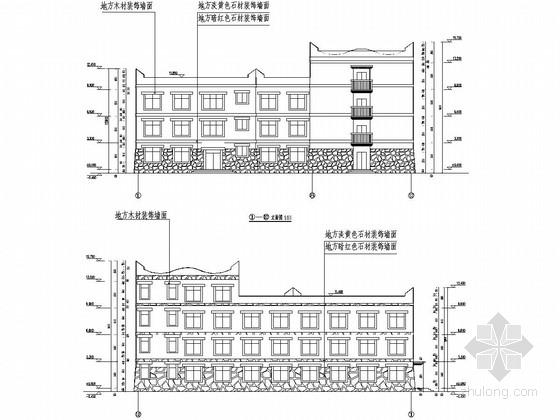 [四川]三层框架结构小学宿舍楼结构施工图(含建筑图)