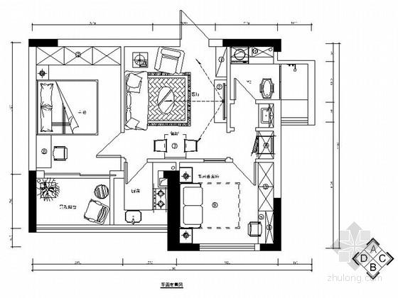 [湖南]精品地中海风格小两居室内装修施工图(含效果)