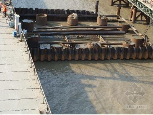 iv型拉森钢板桩施工方案资料下载-[贵州]铁路客专特大桥水中钢板桩围堰施工技术