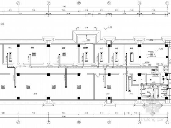 [湖南]多层办公楼多联机空调通风防排烟系统设计施工图(空气源热泵)