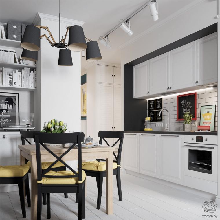明斯克:丰富有趣的公寓改造_4