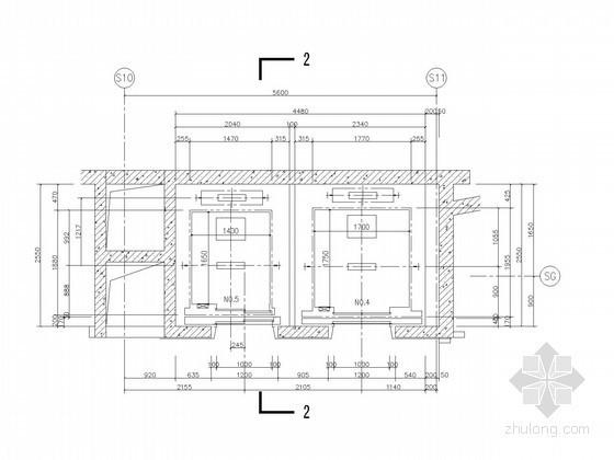 [上海]四层现代风格酒店式公寓电梯详图