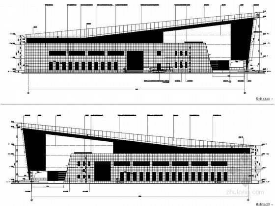 武警政治学院体育馆结构施工图(含建筑图)