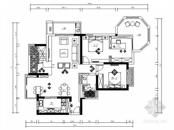 [上海]精品名师设计典雅新中式风格别墅装修施工图(含实景)