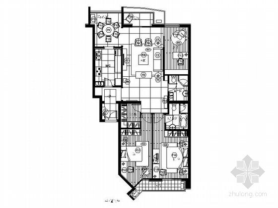 [北京]洋房小区现代高档三居室装修图