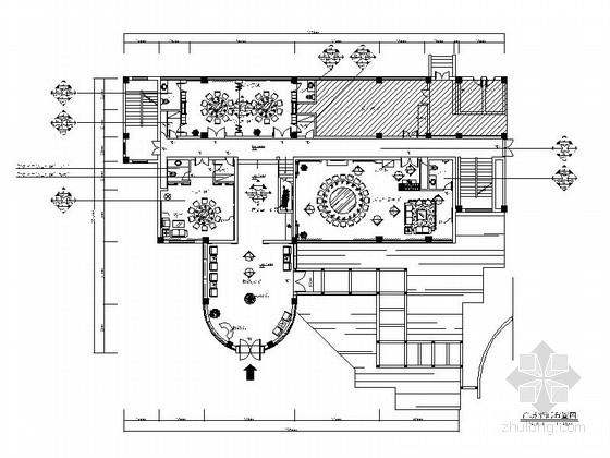 [成都]西蜀文化特色现代化管理军队酒店装修施工图(含电图)