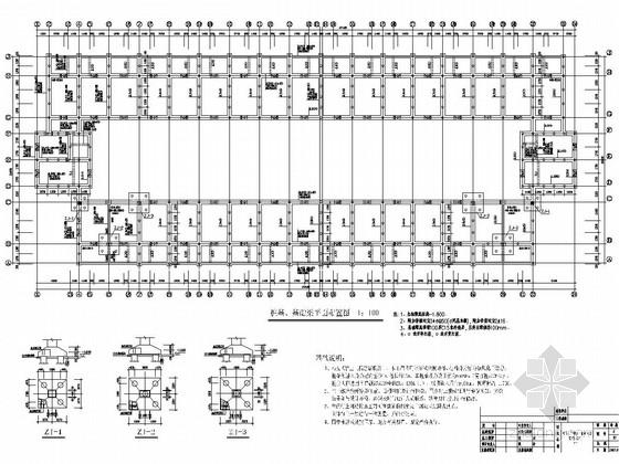 [江西]地上三层砖混结构宿舍楼结构施工图