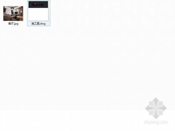 [杭州]两室两厅温馨小户型室内装修施工图(含效果图) 总缩略图