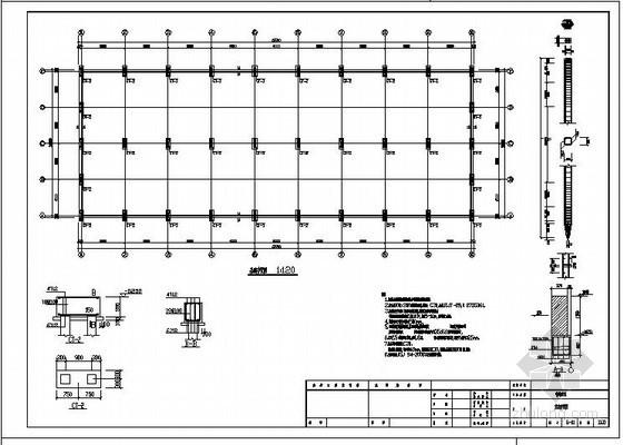 某带吊车单跨双坡门式刚架结构设计图