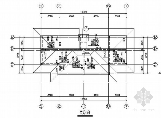 [南昌]三层框架住宅楼结构施工图(坡屋面)