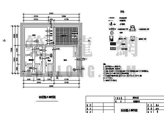 四川某医院中心血站污水处理工程图