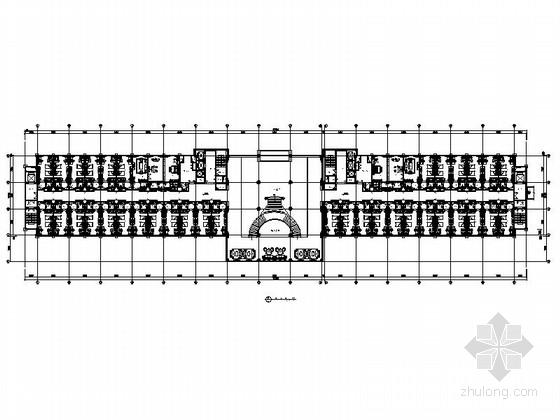 [内蒙古]某豪华民族风格酒店客房空间室内装修施工图(含效果)