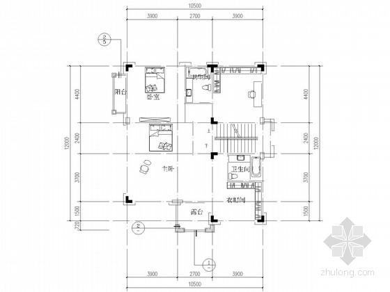 三层框架坡屋顶别墅结构施工图(含建施)