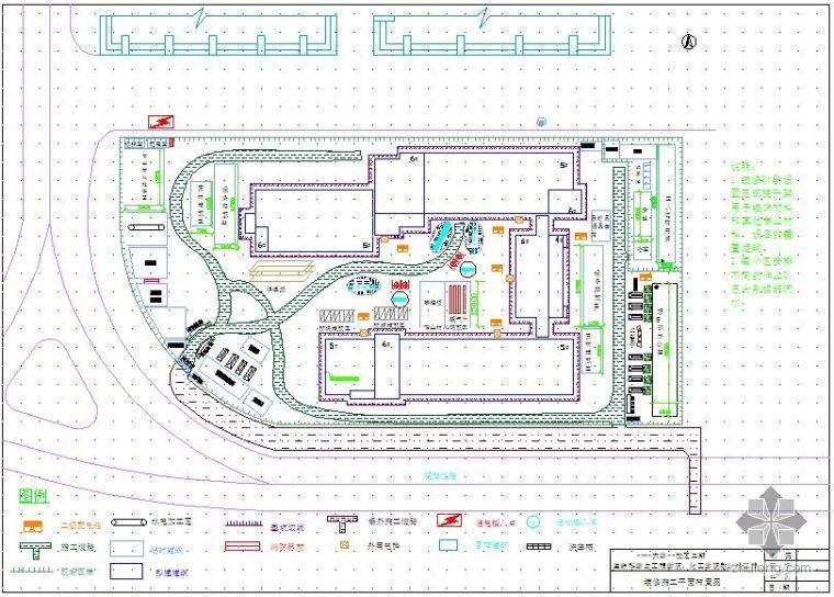 兰州某大学教学楼施工现场平面布置图汇编