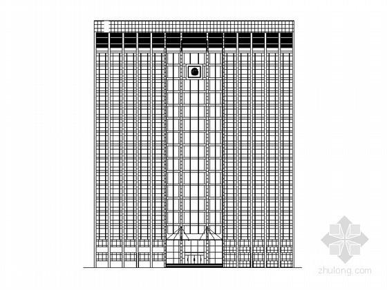 内蒙古某公安局办公大楼(高层)建筑设计施工图