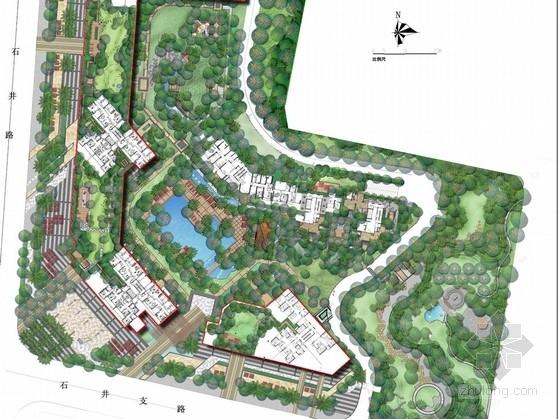 [广东]现代泰式风格居住区环境景观扩初设计方案
