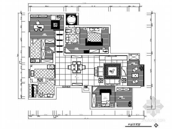 [宁波]简洁典雅现代风格两居室装修图(含效果图)