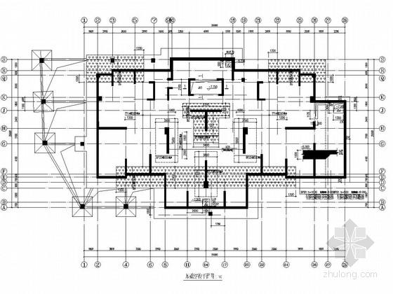 [64米]22层剪力墙结构住宅楼结构图(筏板基础)