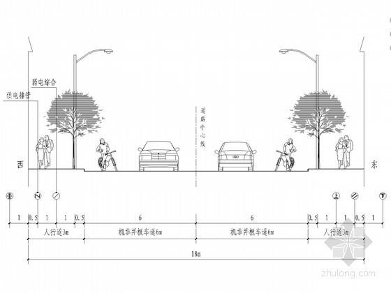 [安徽]一公里市政道路给排水施工图