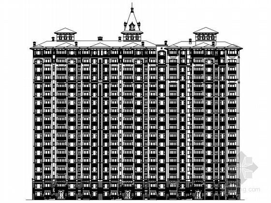 [济宁]某十八层三连塔欧式住宅建筑施工图