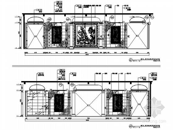 [甘肃]园林式星级宾馆室内装修设计立面施工图