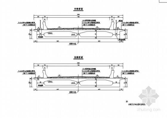 104m预应力钢筋混凝土组合体系斜拉桥箱梁典型横断面节点详图设计