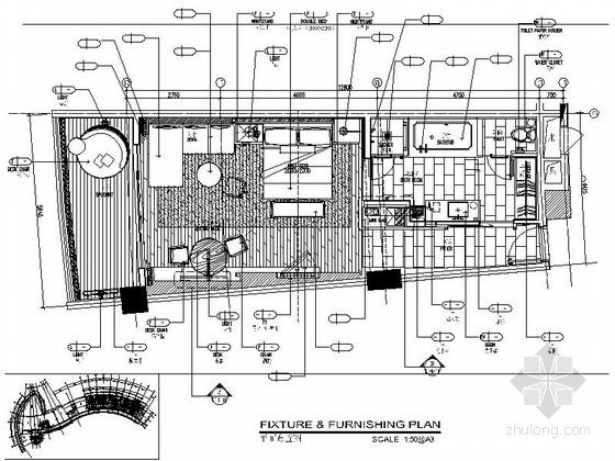 [浙江]国际五星级假日酒店现代客房室内装修施工图(含效果)