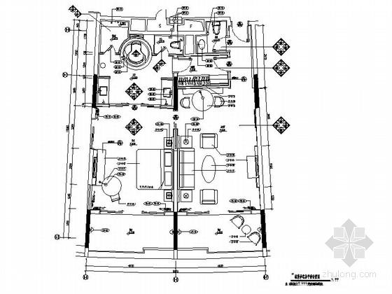 [广东]旅游产业园五星级酒店豪华套房装修施工图(含效果)