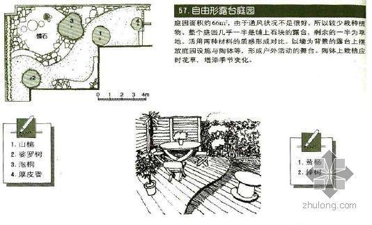自由形露台庭院景观设计图