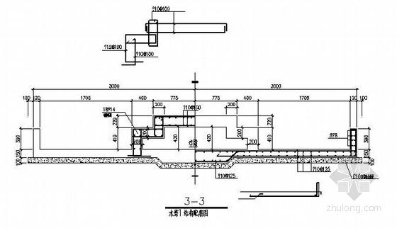 大酒店景观工程结构施工图(水景、花架、保安亭)