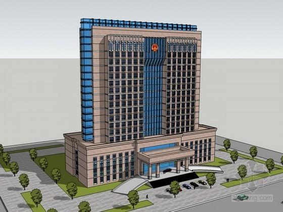 行政办公楼建筑sketchup模型下载