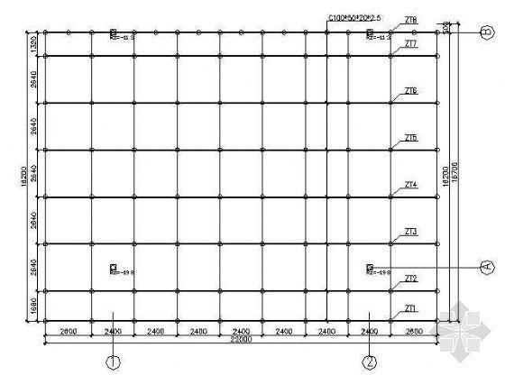 某22m*13m加油站网架结构图纸