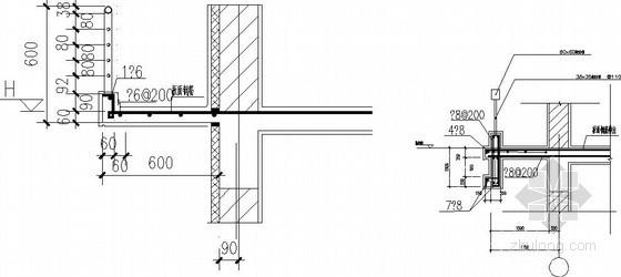 空调机搁板配筋节点资料下载-住宅常用空调搁板配筋构造详图
