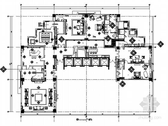 [江苏]某五星级酒店总统套房室内装修施工图