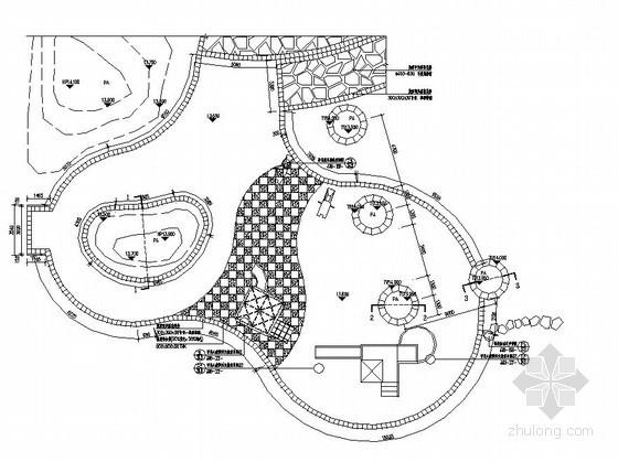 小区儿童娱乐设施施工图