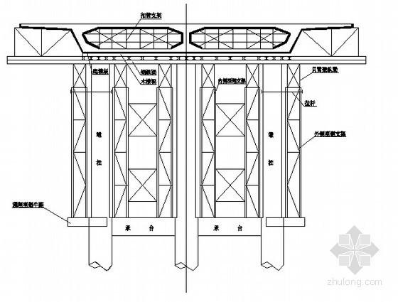 桥梁支架现浇主梁施工方案图