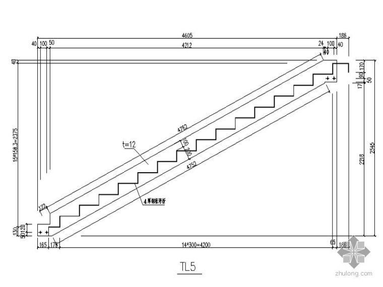 [图集]多种常用钢结构楼梯节点图