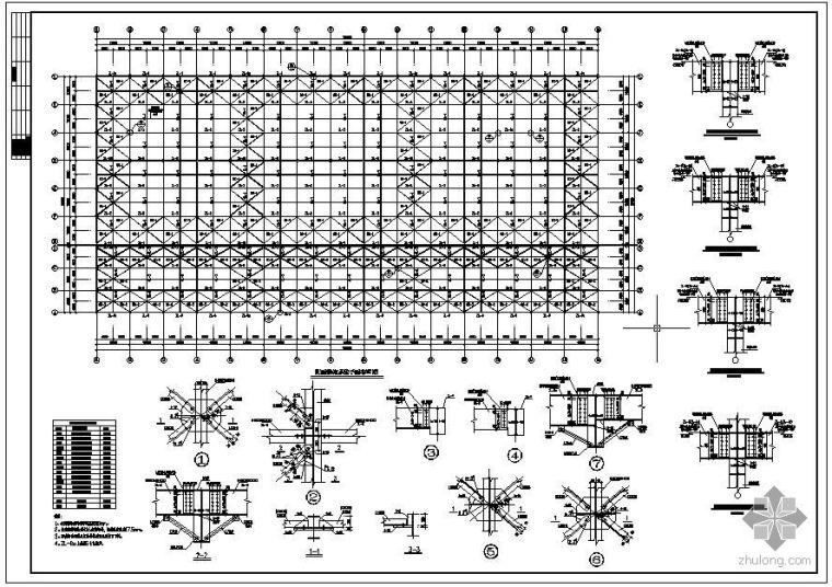 某屋面结构系统节点构造详图