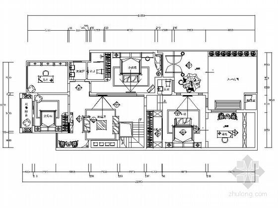 精品地中海双层别墅室内装修施工图(含效果)