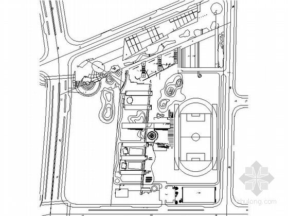 多层现代风格学校规划及单体平面图