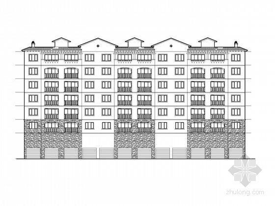 [湖南]6层欧式风格住宅楼建筑施工图
