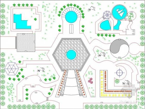 小型休闲广场平面图设计