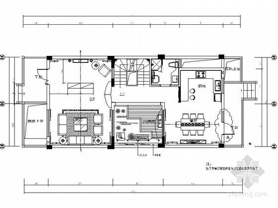 [南京]某山庄三层别墅样板间施工图