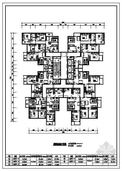 塔楼标准层平面图(680m2)