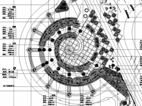 校园公共绿地植物种植绿化工程施工图