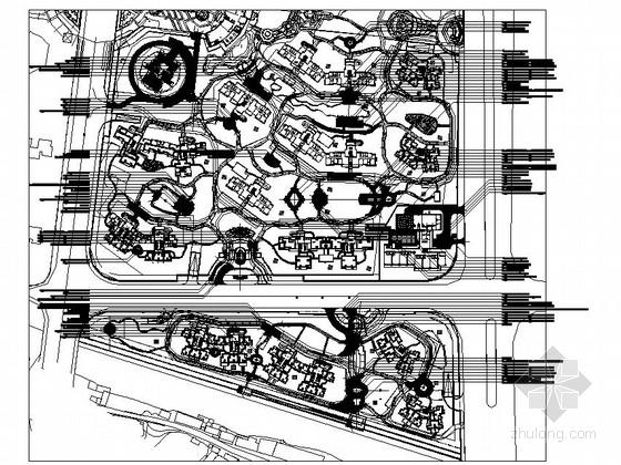 [佛山]县城居住区园林景观工程全套施工图(二)