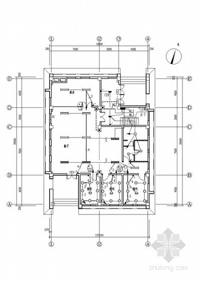 [天津]办公楼带餐厅电气施工图(甲级院设计)