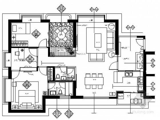 [珠海]某国际公寓三居室样板间装修图