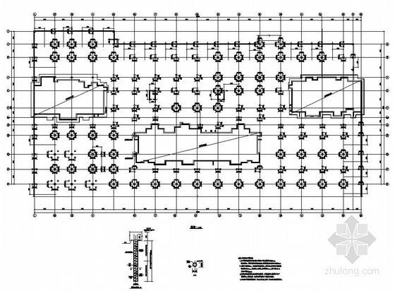 某大型地下停车库全套施工图(无梁楼盖)